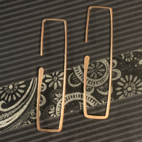 "Slim Rectangle - Rose Gold Filled - Large (2"")"