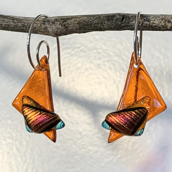 Fused Glass Earrings - Style D