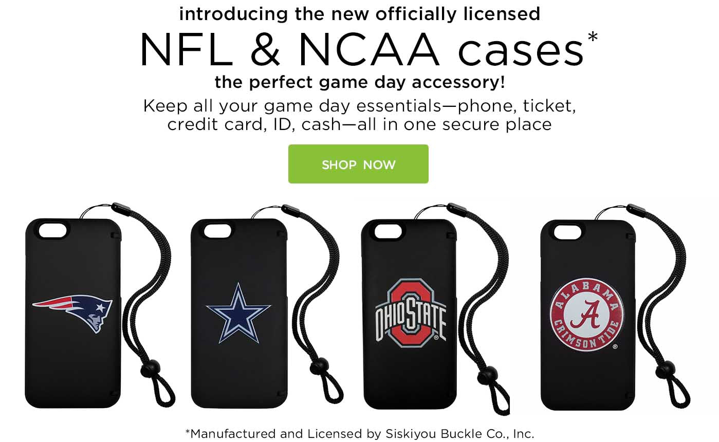 Introducing the new officially licensed NFL and NCAA storage cases: the perfect game day accessory. shop now!