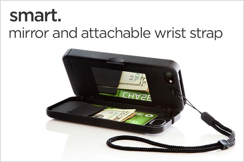 smart. mirror and attachable wrist strap