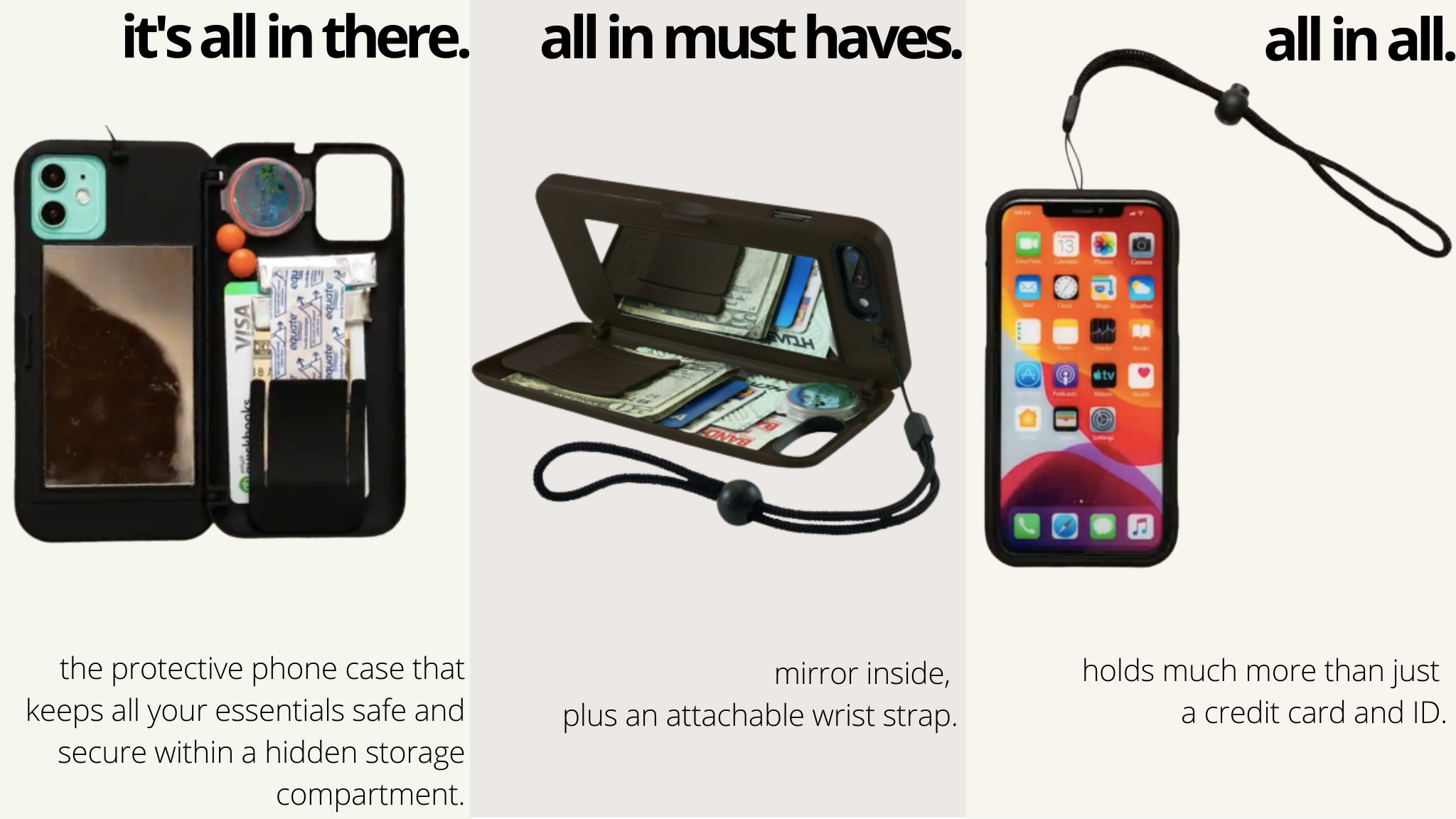 all in case - image of features of phone case