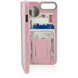 wallet case for iPhone 7 - pink - eyn
