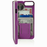 wallet case for iPhone 7 - purple - eyn
