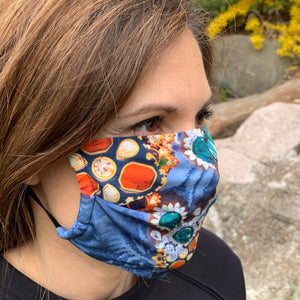A Sea of Color Boho Print Women's Face Mask - Made in USA
