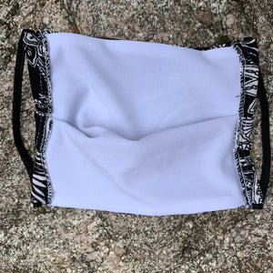 Black and White Bandana Men's Face Mask - Made in USA