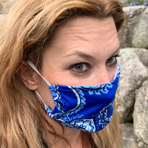 Bohemian Blue Women's Face Mask - Made in USA