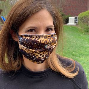 Cheetah Print Women's Face Mask - Made in USA