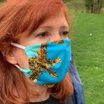 Load image into Gallery viewer, LIMITED EDITION Blue Versace Inspired Women's Face Mask - Made in USA