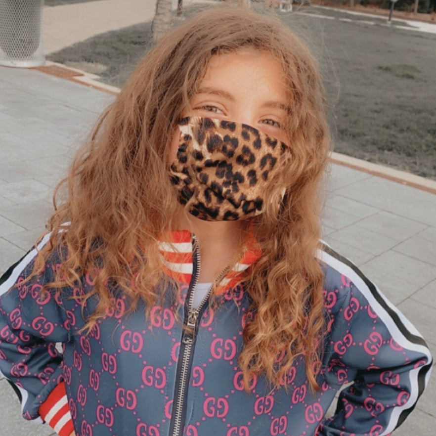 Leopard Print Kid's Face Mask
