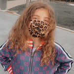 Load image into Gallery viewer, Leopard Print Kid's Face Mask