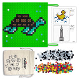 GREEN SILICONE MAT FOR PUZZLE ACTIVITIES WITH PIXEL StyLE CUBES