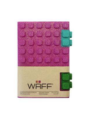 WAFF Glitter Journal - Fuchsia / Medium - WAFF World Gifts Inc.