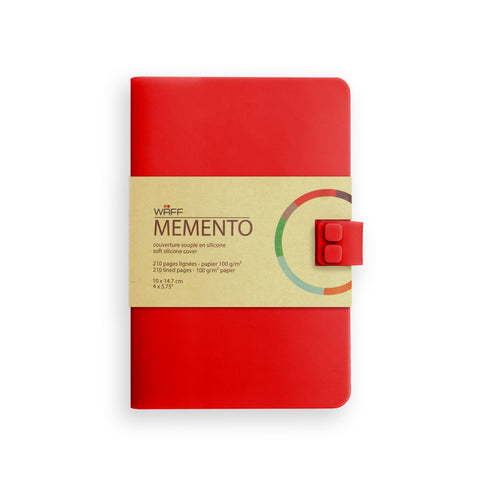WAFF Memento Journal - Red / Medium