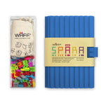1 medium journal with silicone cover / 200 silicone WAFF cubes / 1 WAFF bag for storing WAFF cubes