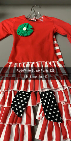 Red/White Striped Kids Set