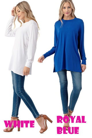 Long Sleeve Double Side Slit Tunic