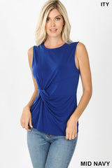 ITY Knot Front Sleeveless Top