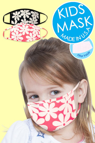 Kid's Fashion Mask with Filter pocket