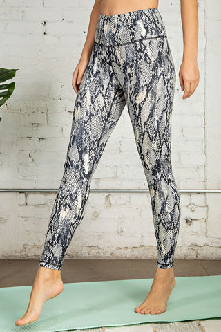 Snake Printed Butter Soft Full Length Leggings