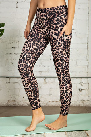 Animal Print Butter Leggings with Side Pockets