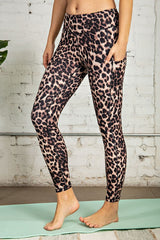 Animal Printed Butter Leggings with Side Pockets