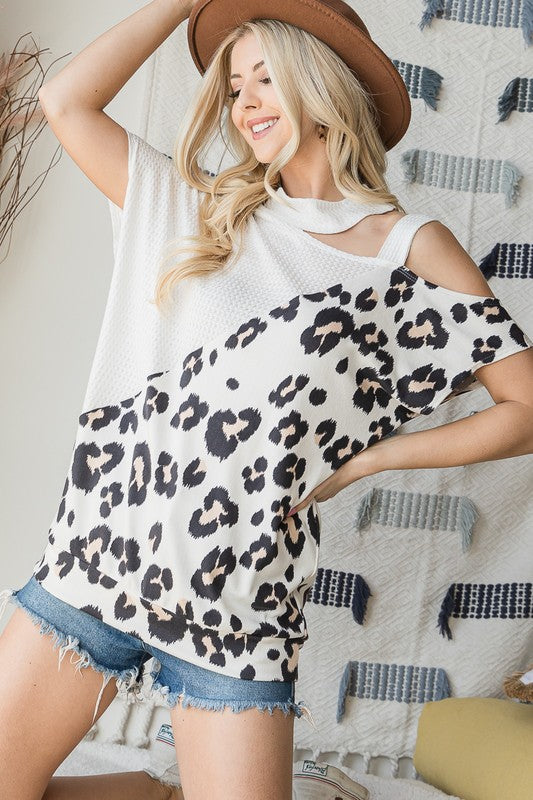 PLUS SIZE Cute Comfy Fit Animal Print Top