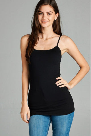 JERSEY CAMI LONGER LENGTH - multiple colors available