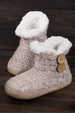 Coconut Button Knitted Slipper