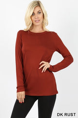 Premium Rayon Long Sleeve Round Neck Tee