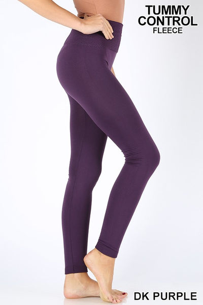 Tummy Control Fleece Seamless Leggings