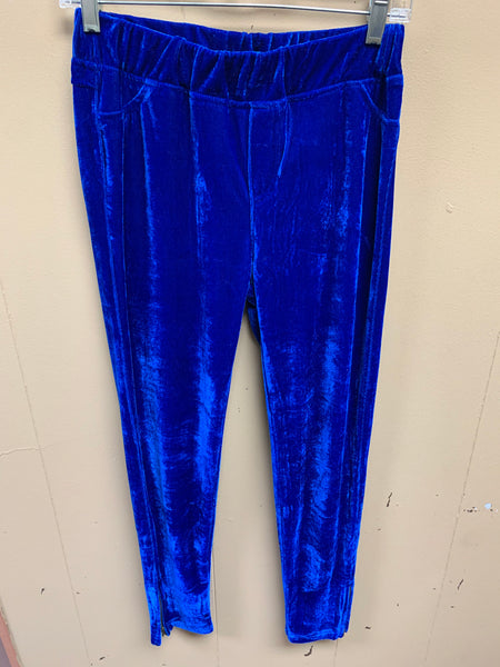 Velvet Leggings with Back Pockets
