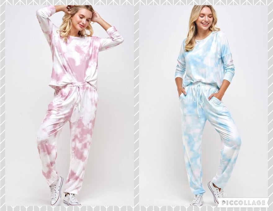 Tie Dye Sweatshirt and Pants Set