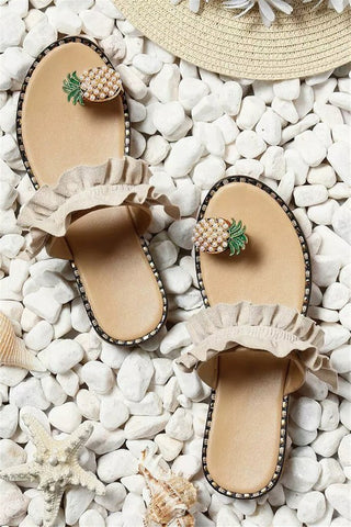 Pineapple Toe Ring Casual Sandals