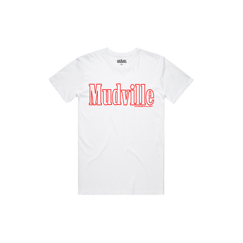 """Mudville"" Red Outline Tee"