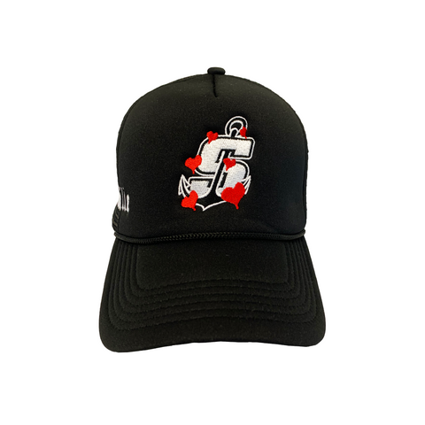 """Mudville"" Black Trucker Hat"