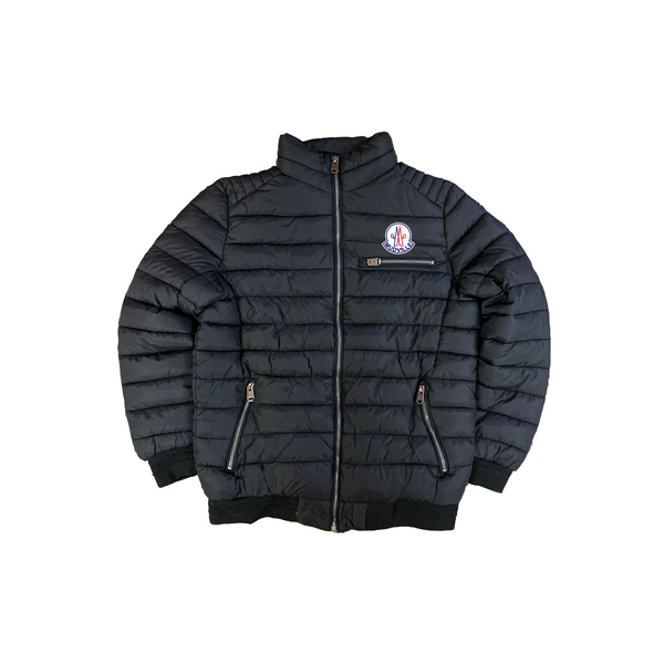 """Mudcler"" Black Nylon Down Jacket"