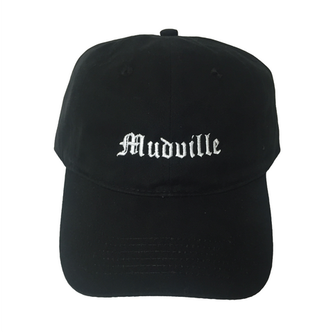 """Mudville"" Black Unstructured Hat"