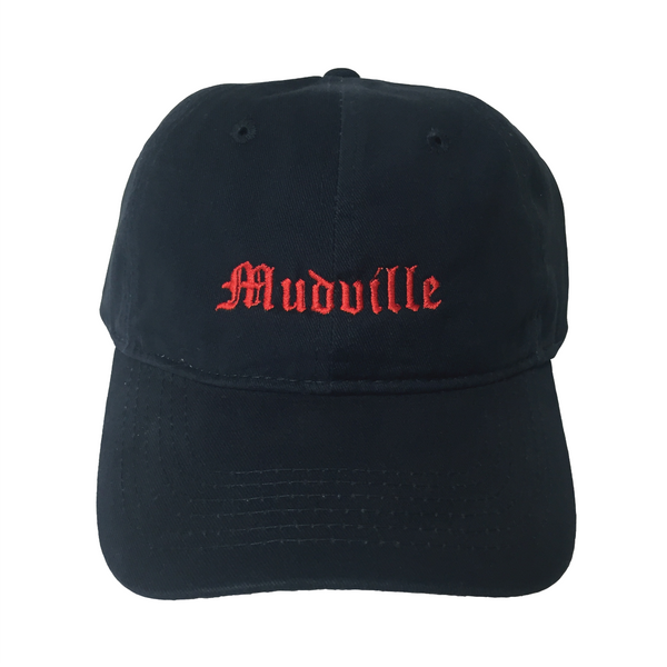 """Mudville"" Navy Unstructured Hat"
