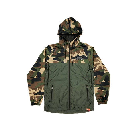 """GDUP Varsity Camo"" Zip-Up Jacket"