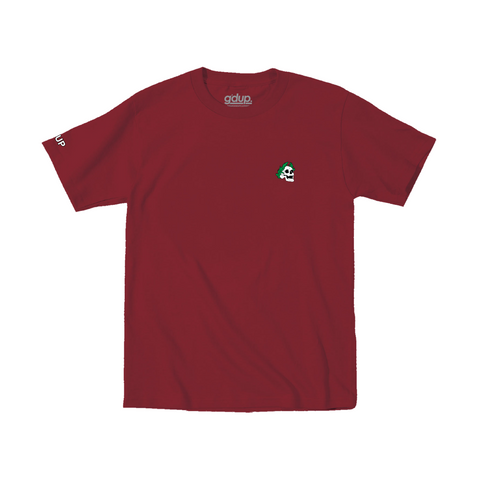 """Royal Skull"" Burgundy Tee"