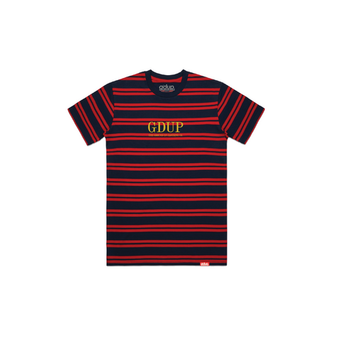 """Logo"" Striped Tee"