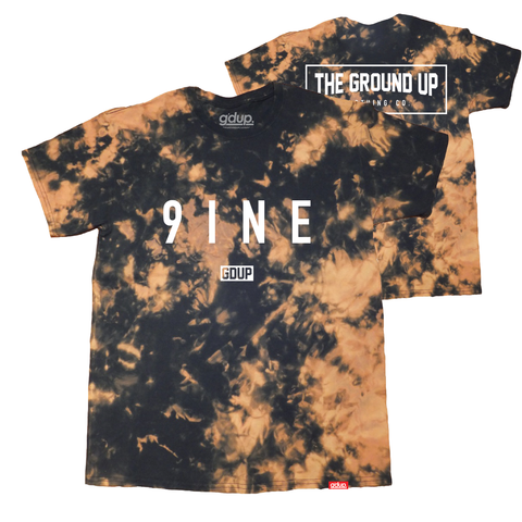 """9INE"" Bleach Wash Tee"