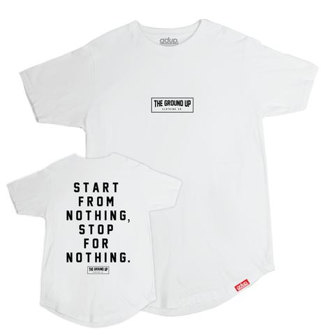 """GDUP Box Logo"" Scalloped Tee"