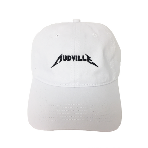 """Mudville"" White Concert Unstructured Hat"