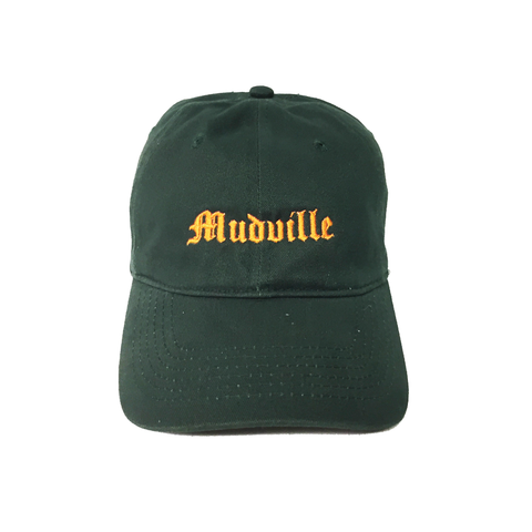 """Mudville"" Green Unstructured Hat"