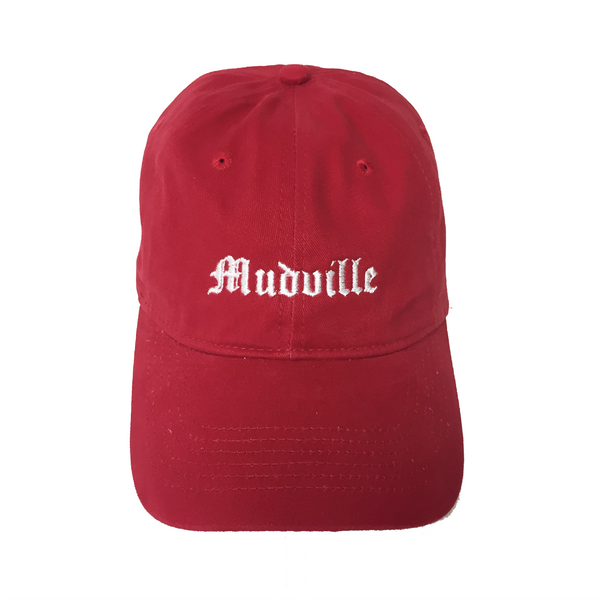 """Mudville"" Red Unstructured Hat"