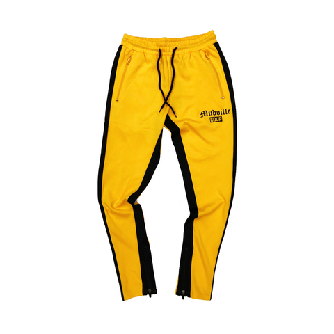 """Mudville"" Yellow Track Pants"