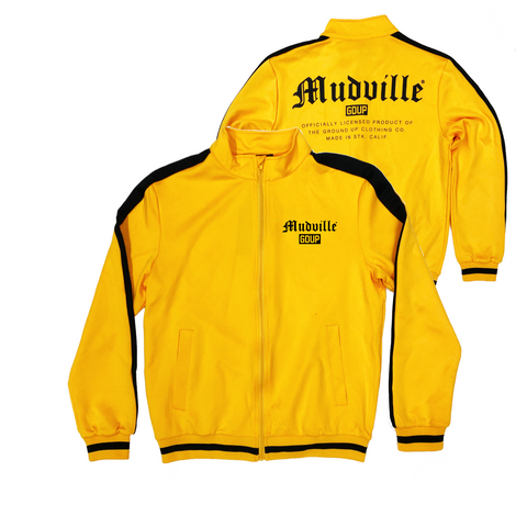"""Mudville"" Yellow Track Jacket"