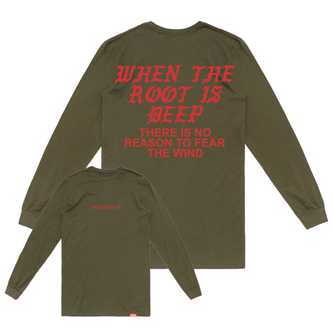 """Roots"" Olive Long Sleeve"