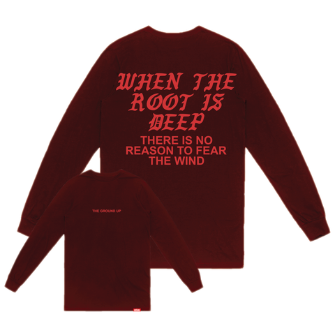 """Roots"" Maroon Long Sleeve"